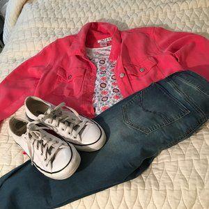 Coldwater Creek Pink Tencel Shirt/Jacket